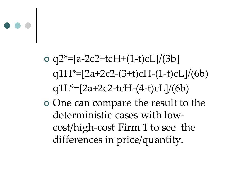 q2*=[a-2c2+tcH+(1-t)cL]/(3b]